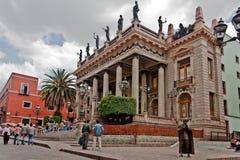 Het Theater van Juarez in Guanajuato stock afbeelding