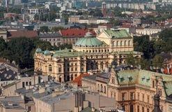 Het theater van Krakau op stedelijke gebieden polen royalty-vrije stock fotografie