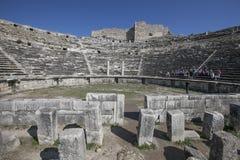 Het Theater van Miletus, Turkije royalty-vrije stock fotografie