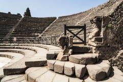 Het Theater van Pompei stock foto