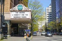 Het Theater van Portland - Arlene Schnitzer Concert Hall - PORTLAND - OREGON - APRIL 16, 2017 Royalty-vrije Stock Afbeelding