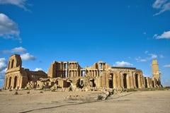 Het theater van Sabratha, Libië Stock Afbeelding