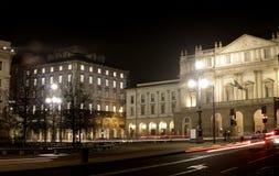 Het Theater van Scala, Milaan Italië Stock Foto