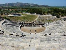 het theater van 15.000-Seat Hellenistic in Miletus, Turkije stock afbeelding