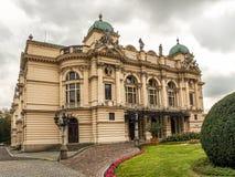 Het Theater van Slowacki van Juliusz in Krakau, Polen stock afbeelding