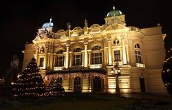 Het Theater van Slowacki van Juliusz in Krakau, Polen Royalty-vrije Stock Afbeeldingen