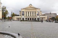 Het Theater van Tampere in Finland stock foto's
