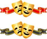 Het theatermaskers van de komedie en van de tragedie Royalty-vrije Stock Fotografie