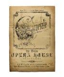 Het Theateropera Fllyer van New Orleans Orléans Stock Afbeeldingen