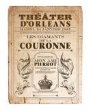 Het Theateropera Fllyer van New Orleans Orléans Royalty-vrije Stock Afbeeldingen