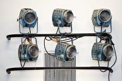 Het theatrale systeem van de verlichtingsschijnwerper Stock Fotografie