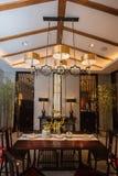 Het Theehuis van Moderne Chinese families royalty-vrije stock afbeeldingen