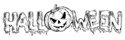 Het thema dat van Halloween 3 trekt Stock Afbeelding