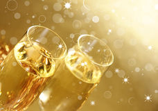 Het thema van Champagne stock foto