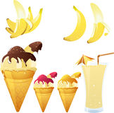 Het thema van de banaan Royalty-vrije Stock Fotografie