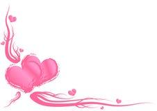 Het thema van de Dag van valentijnskaarten royalty-vrije illustratie