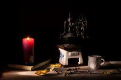 Het thema van de de herfstkoffie Stock Afbeeldingen