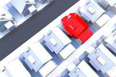 Het Thema van de huisvesting royalty-vrije illustratie