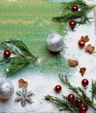 Het Thema van de Kerstmisdecoratie Royalty-vrije Stock Afbeeldingen