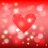 Het thema van de liefde De dag of het huwelijkskaartmalplaatje van Valentine Stock Afbeelding
