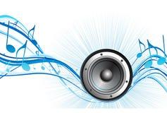 Het thema van de muziek Stock Foto