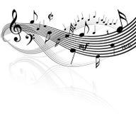 Het thema van de muziek Royalty-vrije Stock Foto's