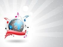 Het thema van de muziek royalty-vrije illustratie