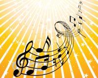 Het thema van de muziek Stock Afbeelding