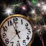Het thema van de nieuwjaarviering Stock Foto