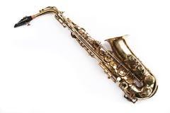 Het thema van de saxofoon Stock Afbeelding