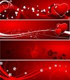 Het thema van de valentijnskaart Stock Foto