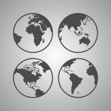 Het thema van de wereldkaart Royalty-vrije Stock Foto