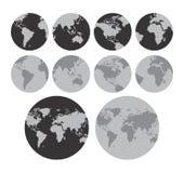 Het thema van de wereldkaart Royalty-vrije Stock Foto's