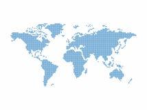 Het thema van de wereldkaart Stock Afbeeldingen