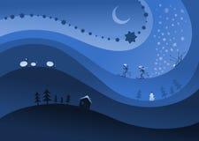 Het thema van de winter royalty-vrije illustratie