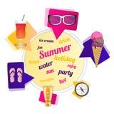 Het thema van de zomer Royalty-vrije Stock Foto's