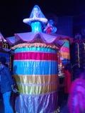 Het thema van Durgapuja van mahesh stock foto