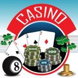 Het thema van het casino Royalty-vrije Stock Fotografie