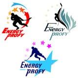 Het thema van het emblemenhockey Royalty-vrije Stock Afbeeldingen