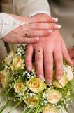 Het thema van het huwelijk Stock Foto