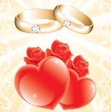 Het thema van het huwelijk Royalty-vrije Stock Foto's