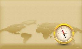 Het Thema van het kompas stock illustratie