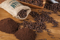 Het thema van het land met koffie Royalty-vrije Stock Foto's