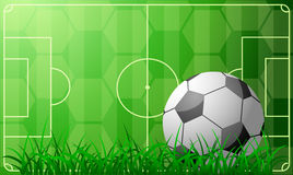 Het thema van het voetbal royalty-vrije illustratie