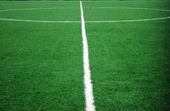 Het thema van het voetbal of van de voetbal Stock Foto