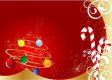 Het thema van Kerstmis. Stock Foto