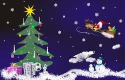 Het thema van Kerstmis, de clown van de Kerstman Stock Foto's