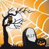 Het thema vierkante kaart van Halloween Stock Afbeeldingen