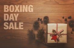 Het themaachtergrond van de tweede kerstdagverkoop Stock Fotografie
