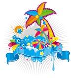 Het themabanner van de zomer stock illustratie